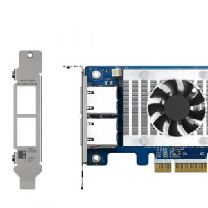 QNAP Dual-port (10GBASE-T) 10GbE network expansion card, Intel X710, PCIe Gen3 x4